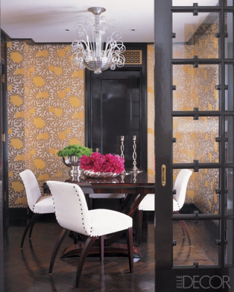 Michelle Smith Of Millys Dining Room Vintage Gilbert Rohde Chairs Surround A Macassar Ebony Table In The Venetian Chandelier Is From