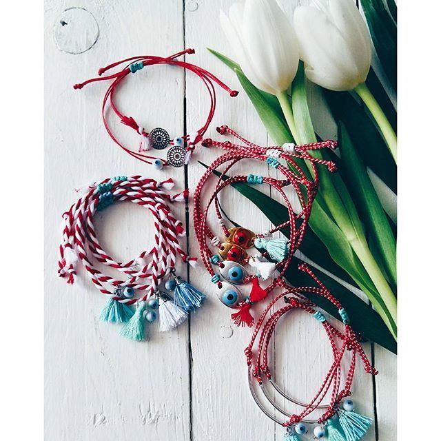 •March🌸 is coming• #ohsocutethings #handmade #jewelry #greekdesigners#greekdesigner#madeingreece #martis #martakia #marchbracelet #bracelet#boho#instaphoto#μαρτακια#jewelrygram#photooftoday#evileye#love#cute#instagood#fashionjewelry#tulip#fashionista#fashiongram #fashion #happy #spring #sun #style