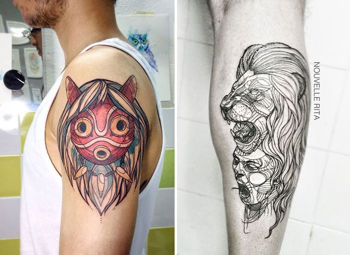 I have started tattooing two years ago, in October 2013. I had never thought about doing this before I started doing it, but now I can't see myself doing anything else. I was in a not so good time of my life, and I actually feel like tattooing came to me as a salvation.