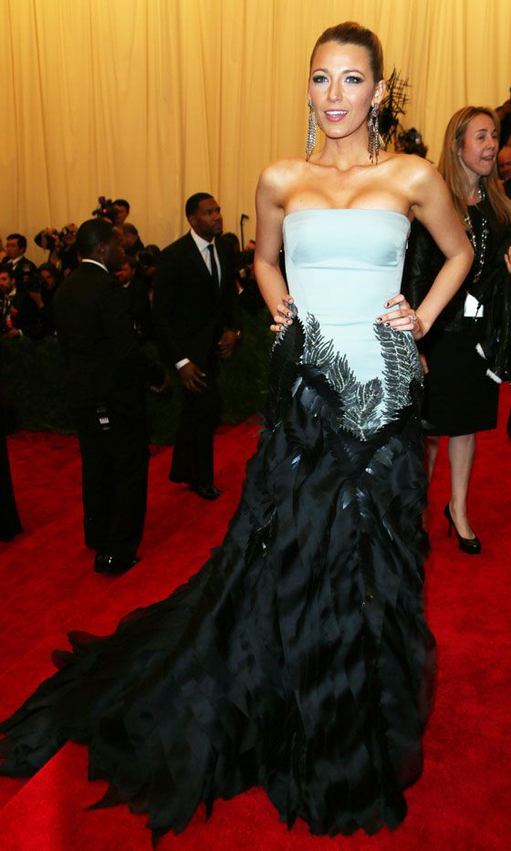 Blake Lively In Gucci At The Met Ball, 2013