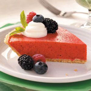Berry Smoothie Pie Recipe from Taste of Home -- shared by Jill Bonanno of Prineville, Oregon