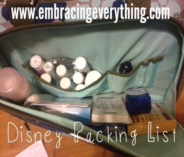 Disney Packing List: Disneyworld Series