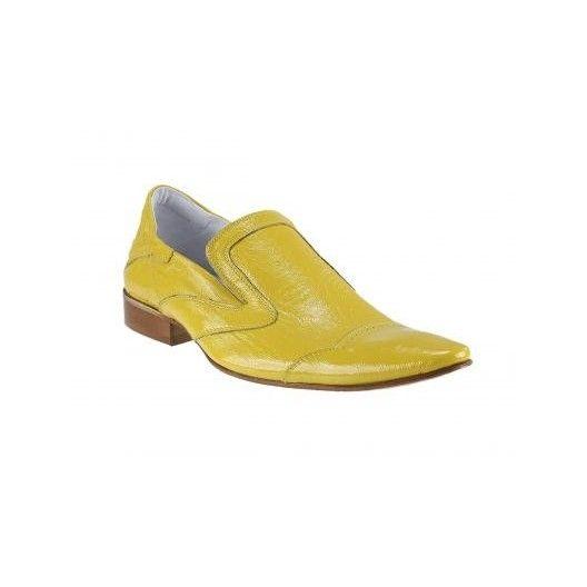 Pánské kožené extravagantní boty žluté - manozo.cz