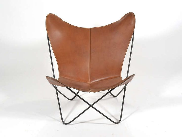 **living room chair, can you please make leather slightly less orange