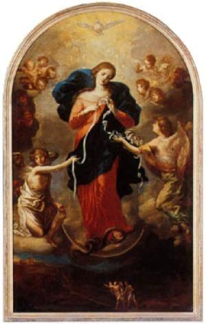 Novena to Mary, Undoer of Knots.  Icon of Mary Undoer of Knots by Johann George Melchior Schmidtner. - Public domain