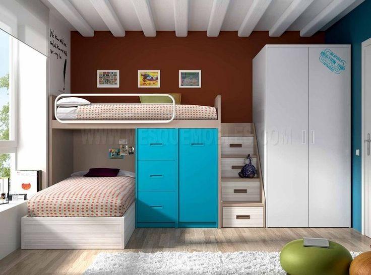 habitaciones juveniles literas rec maras pinterest
