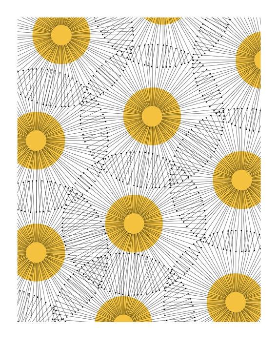 x x x ~ 'Retro Dandelion Print - Jaymee Srp. at RetroMenagerie http://decdesignecasa.blogspot.'
