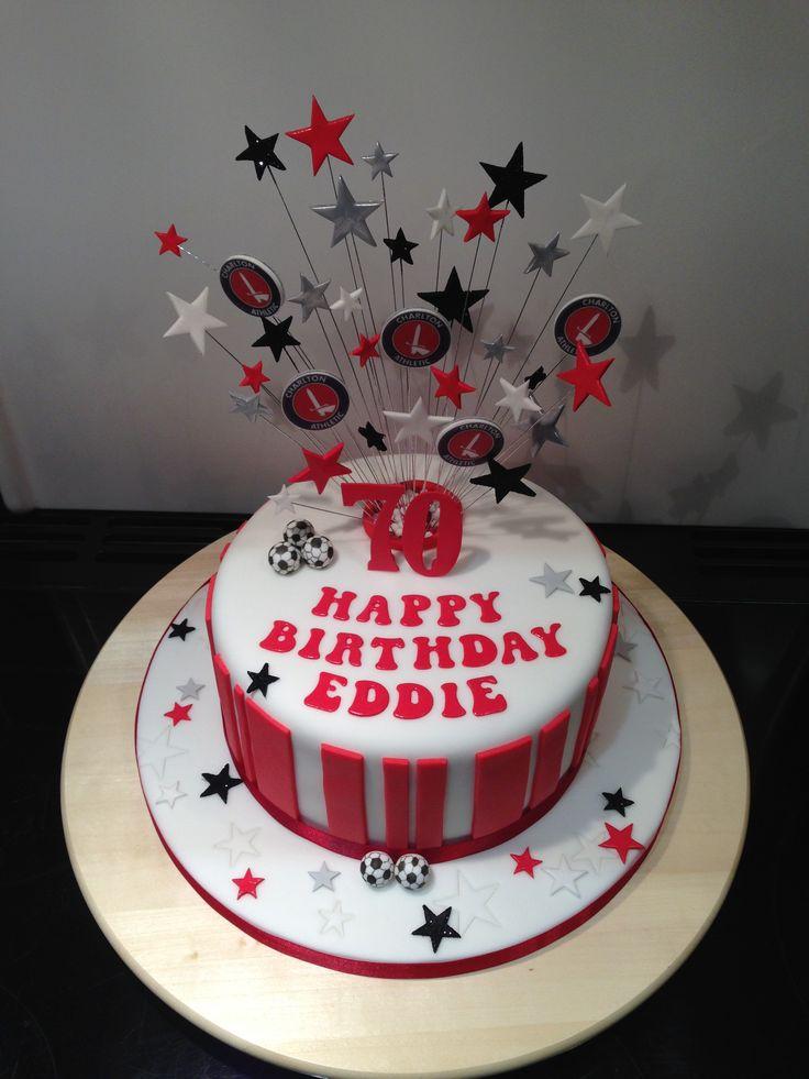 Charlton Athletic Football Cake Birthday Cake Themed