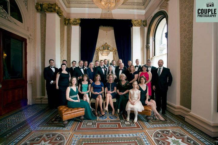 A large family group pose in the side entrance of Westin Hotel Dublin. http://www.couple.ie