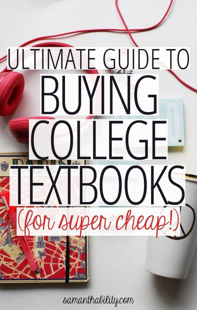 Don't settle for your campus bookstore prices! Check out these tips and this resource list to save cash!