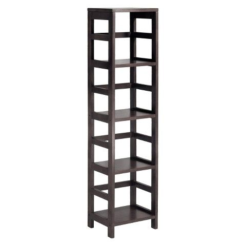 $66.99 at Target. Free Shipping. Fits, because I checked the measurements. Winsome 4 Section Narrow Bookshelf - Espresso