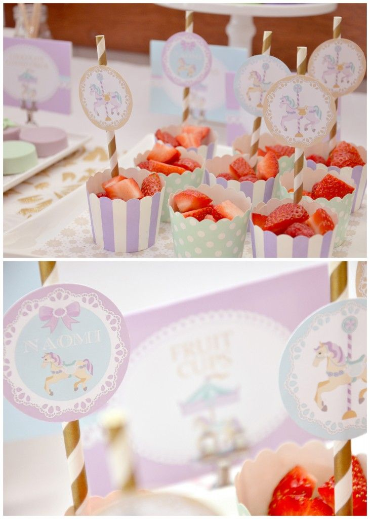 Carousel party for my daughter's 1st birthday