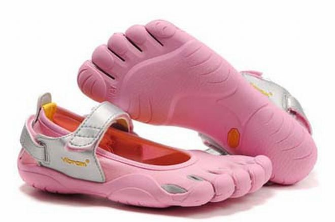 Vibram Toe Shoes (pink and grey)