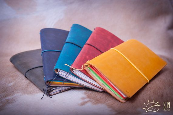 Midori Traveler's Notebook 22 colours FREE by SunLeaves on Etsy
