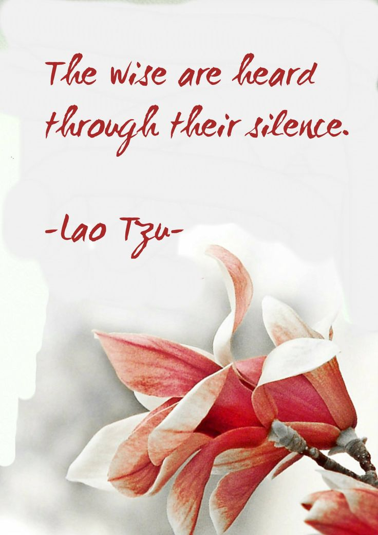 "terracemuse: ""The wise are heard trough their silence. Always self-full trough selflessness. (Lao Tzu) image from galleryzooart """