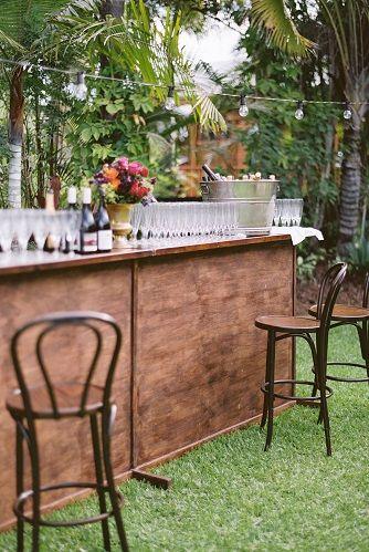Custom-made Timber Bar Cocktail Furniture | Lovebird Weddings