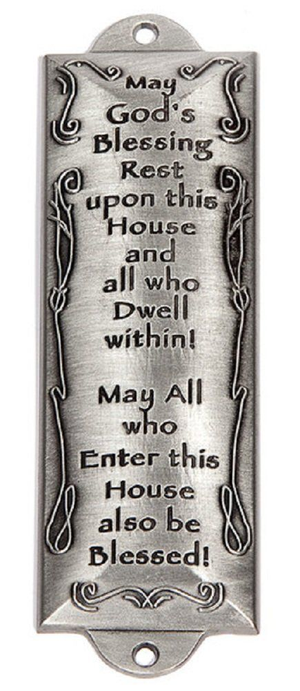 Bless This House Pewter 4.25  Mezuzah By Holy Land Gifts 07736X  sc 1 st  Pinterest & 44 best Sterling Silver Mezuzahs images on Pinterest | Jewish gifts ...