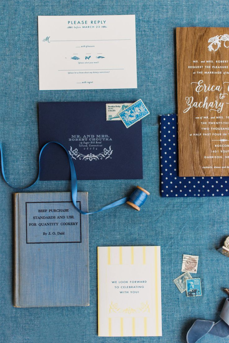 navy blue and kelly green wedding invitations%0A Blue wedding invitation suite  Photography  Justin  u     Mary   The Weddings   Elegant Navy