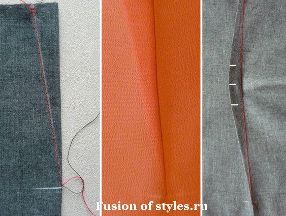 Работа с вытачками при пошиве одежды