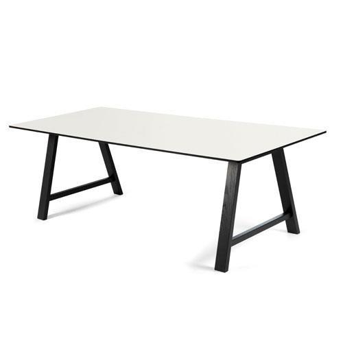 byKATO, T1 Spisebord m. udtræk, sort/hvid