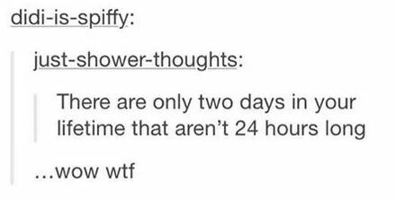 Not necessarily, daylight savings ensues on day to be 25 hours and another to be 23, also if you are born/die at midnight it would be full day(s)