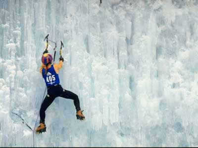 ice climbing... cold but totally worth it
