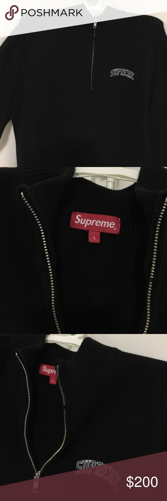 Supreme mock zip up Worn a couple times- bought online for 160 no longer available online or in store- could fit medium as well- comes w supreme bag and stickers Supreme Jackets & Coats