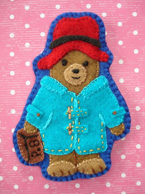 Paddington Bear felt brooch by cupcakecutieNZ, via Flickr