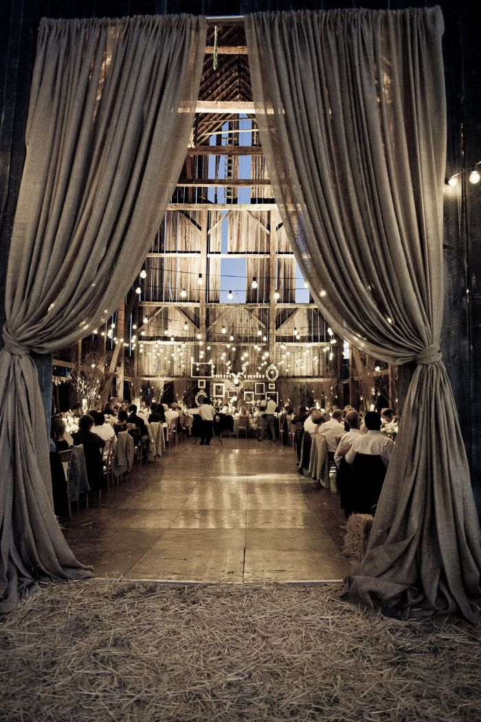 These drapes set the stage for an amazing story/ affair