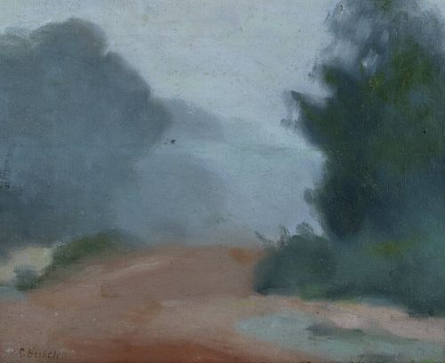 CLARICE BECKETT (1887-1935) Misty Morning oil on board 34 x 43 cm signed lower right: C.Beckett Estimate $7,000-10,000