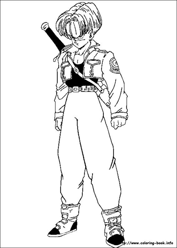 dragon ball z coloring page mature colors