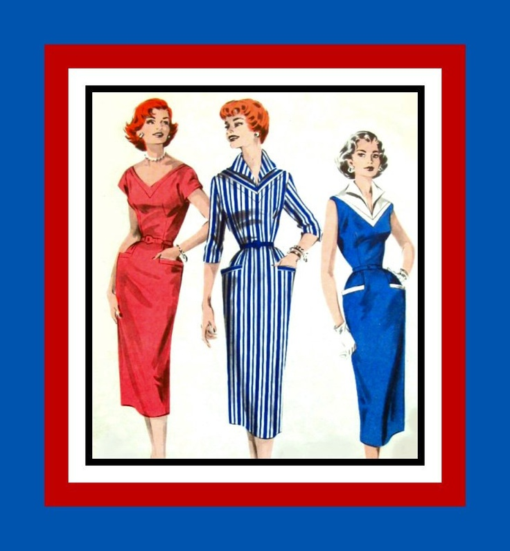 Vintage 1950s -Sexy Rockabilly Gal Dress in Three Sizzling Styles -Sewing Pattern -Size 12 -Rare-Collectible. $17.00, via Etsy.