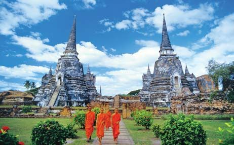 Discover ancient traditions and arts along with modern urban excitement. Explore the unique Thai capital Bangkok, dotted with its glittering Buddhist temples of great beauty and fascination, magnificent palaces, classical dance extravaganzas, numerous shopping centres and traditional way of life. A perfect blend of leisure and culture makes this tour really unique.