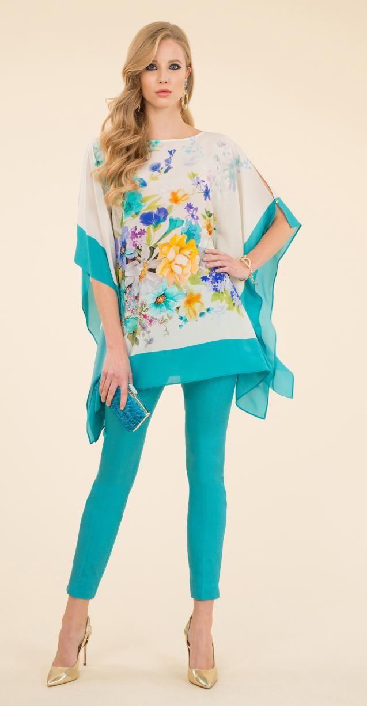 Silk tunic, shantung trousers and Irli bag.