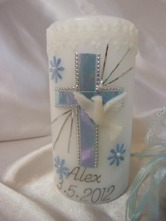 Personalised Girl/Boy Christening, Communion,Baptism Candles,Gift Favors Candle in Baby, Christening & Gifts, Christening | eBay