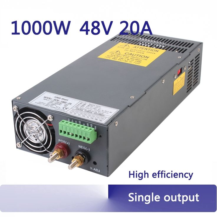 145.00$  Watch now - http://alivvq.worldwells.pw/go.php?t=32484772562 - 48v 20a high power industrial pump single output 1000w switching power supply 220v to 48v regulator SCN-1000-48
