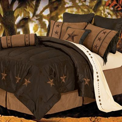 HiEnd Accents Laredo Comforter Set Size: Full, Color: Chocolate