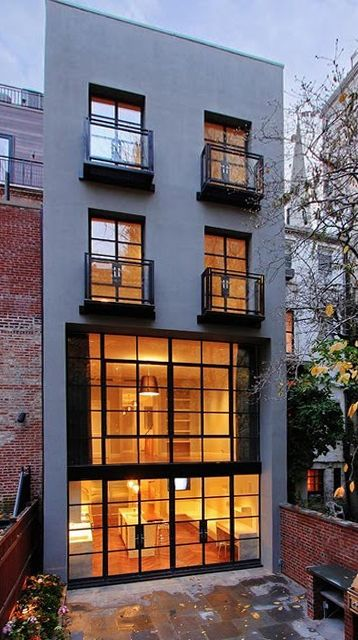 New york city townhouse architecture pinterest for Modern house new york