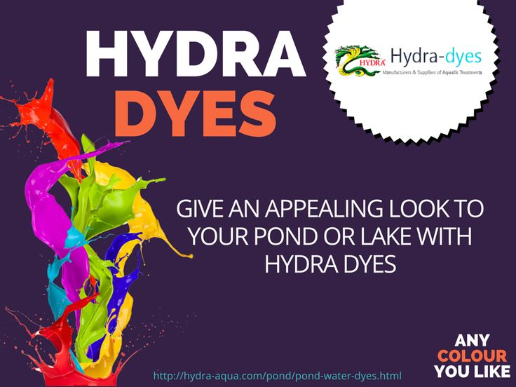 Various colour of #dyes to #colour #pond, #lake and water #features for each #occasion which makes them look #beautiful..! http://hydra-aqua.com/pond/pond-water-dyes.html