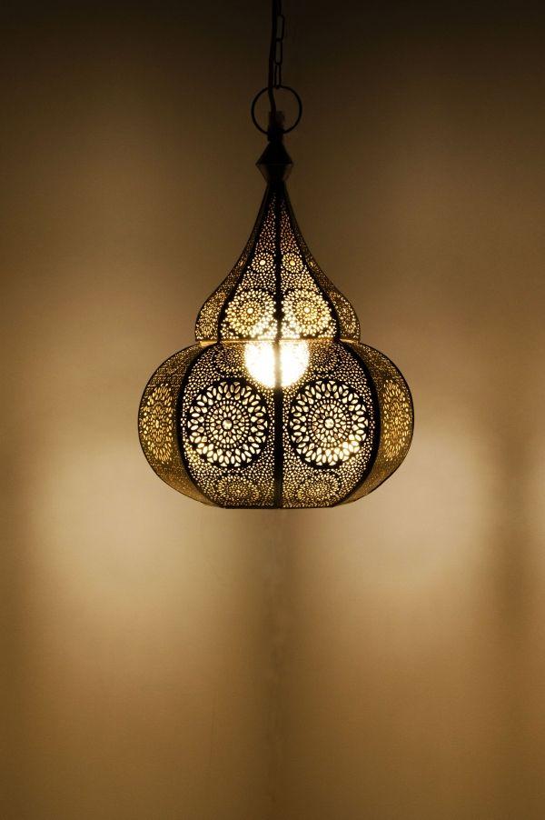 Orientalische Lampe Pendelleuchte Ilham Silber 40cm Orientalische Hangeleuchten Hangeleuchten Aus Eisen Orientalische Lampen Lampe Gold Pendelleuchte