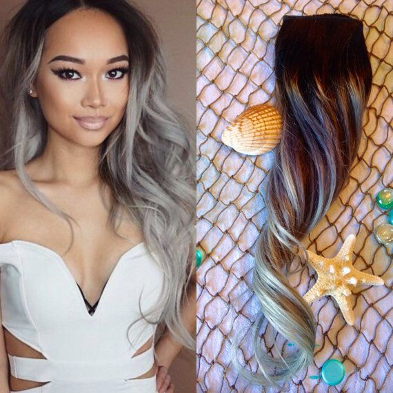 25 trending silver hair extensions ideas on pinterest can grey ombre hair extensions full set balayage hair by oceanlockshair pmusecretfo Gallery