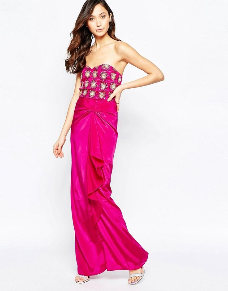 Virgos Lounge | Virgo's Lounge Yoanna Badeau Maxi Dress with Embellished Bust at ASOS