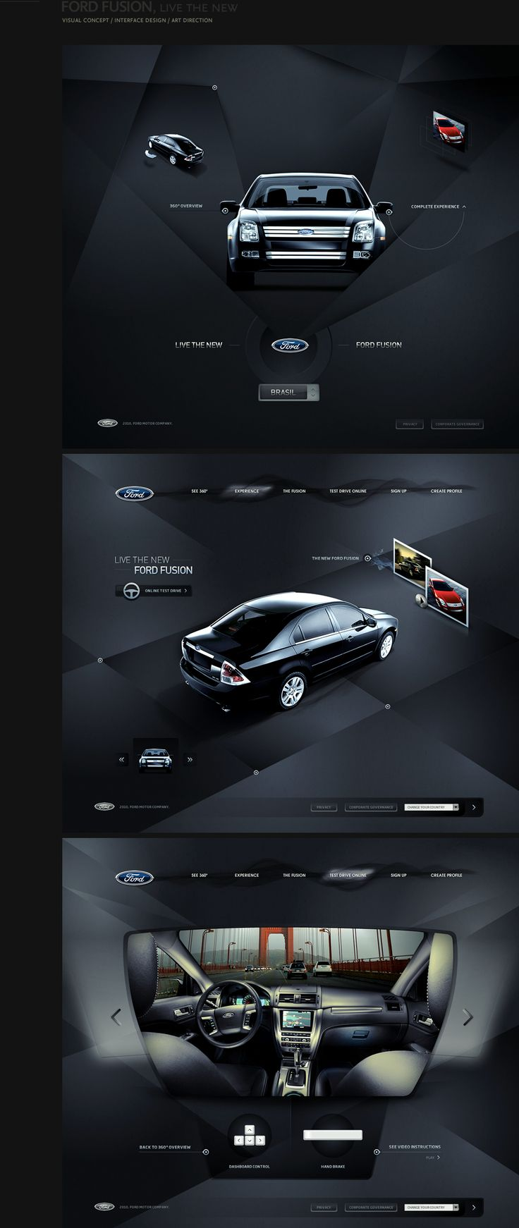 Ford Fusion website