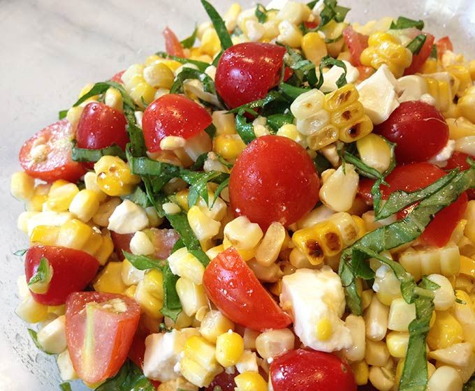 This Grilled Corn, Basil & Tomato Salad brings fresh and summer straight to your next picnic, barbecue or luncheon. A simple side salad you'll make often.