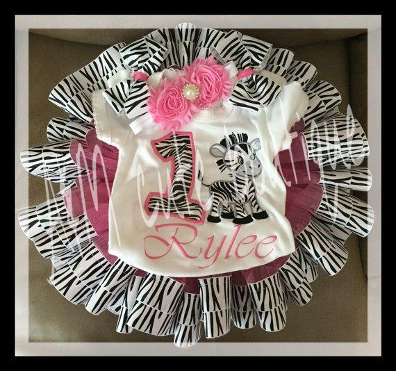 zebra tutu set by AMcutetutuboutique on Etsy