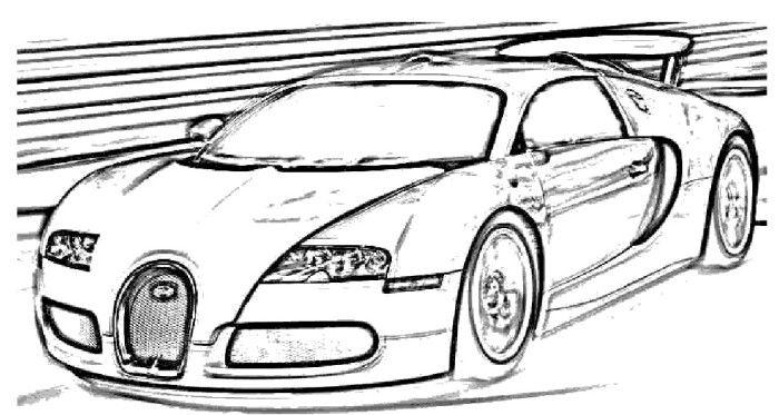 Coloriage Bugatti Veyron Colorier Les Enfants Marnfozinecom