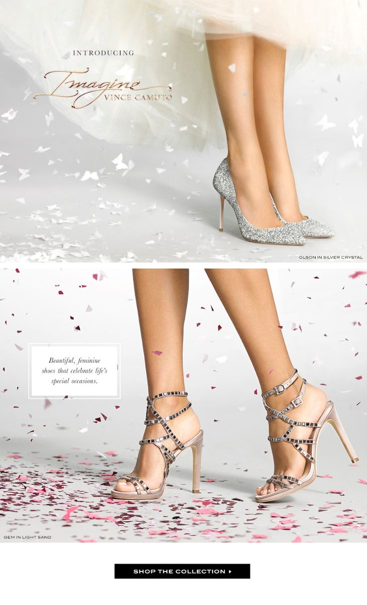 Imagine by Vince Camuto Bridal Shoe Trunk Show April 25th-May 5th Complete your entire look with the perfect bridal shoes. Mention Wedding Chicks and receive free shipping on your order