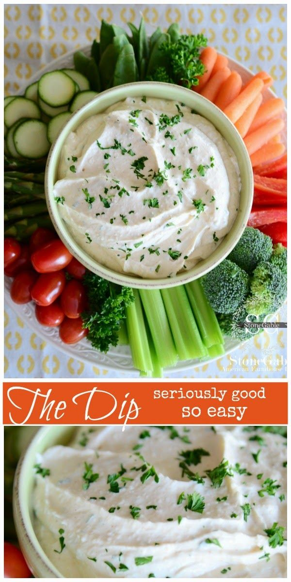 THE DIP The only dip you will make! So easy and FABULOUS! stonegableblog.com