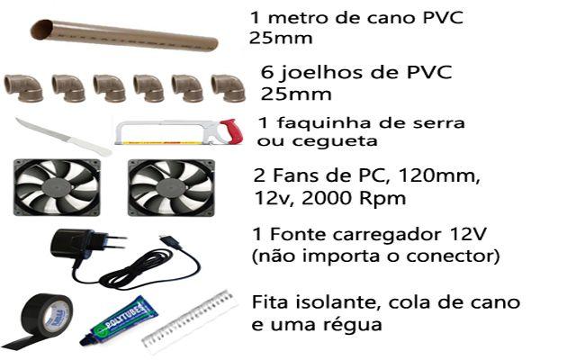 como fazer base resfriadora para notebook, como fazer suporte com cooler, para notebook, caseiro, artesanal, passo a passo, tutorial, com cano de pvc, fan de pc