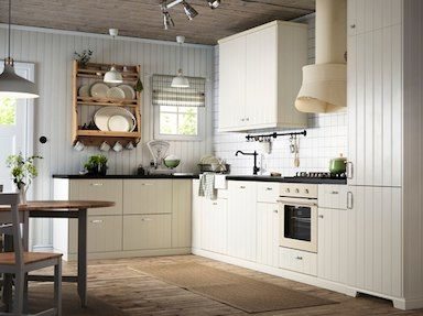 Beautiful An off white country kitchen with black worktops Combined with off white oven